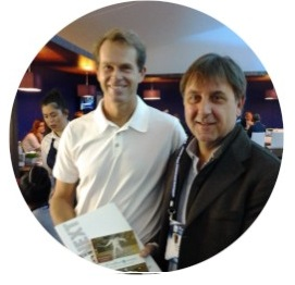 Luca Bottazzi with Stefan Edberg