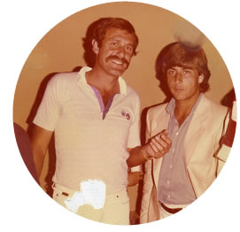 Luca Bottazzi with the Australian champ John Newcombe