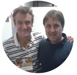 Luca Bottazzi with Mats Wilander